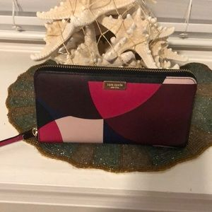 Kate Spade multi color wallet